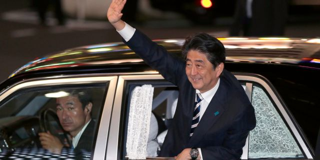 Japans premiärminister Shinzo Abe.  Shizuo Kambayashi / TT / NTB Scanpix