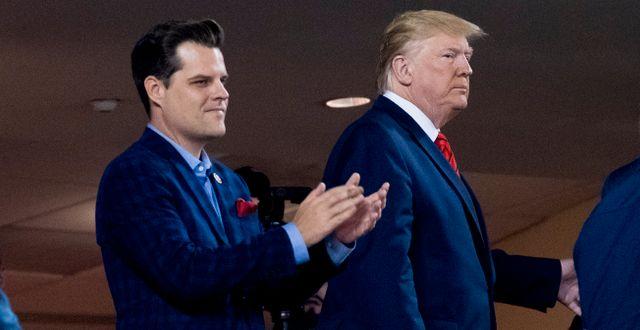 Matt Gaetz och Donald Trump. Andrew Harnik / TT NYHETSBYRÅN