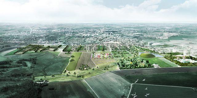 Illustrationsbild över parken. Mandaworks/Lund kommun