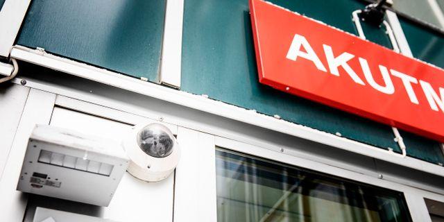 Övervakningskamera vid akutmottagning. Emma-Sofia Olsson/SvD/TT / TT NYHETSBYRÅN