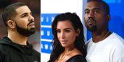 Drake/Kim Kardashian och Kanye West. TT
