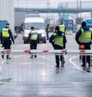 Polis, tull och kustbevakning.  Johan Nilsson/TT / TT NYHETSBYRÅN