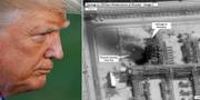 Trump/bild som släppts av USA:s regering som visar skadorna på oljeanläggningen i Buqyaq. TT