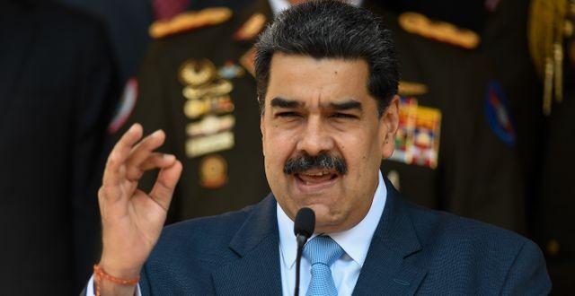 Nicolás Maduro. Arkivbild. Matias Delacroix / TT NYHETSBYRÅN
