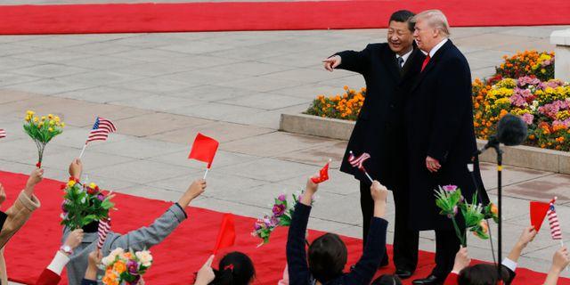Kinas och USA:s presidenter. Andy Wong / TT NYHETSBYRÅN