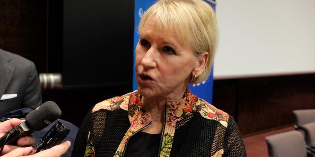 Utrikesminister Margot Wallström (S). Joakim Goksör/TT / TT NYHETSBYRÅN