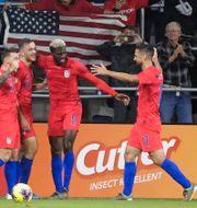 Spelare i amerikanska herrlandslaget under en match mot Kanada i november. John Raoux / TT NYHETSBYRÅN