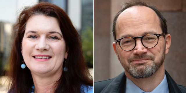 Ann Linde och Tomas Eneroth. Arkivbilder. TT