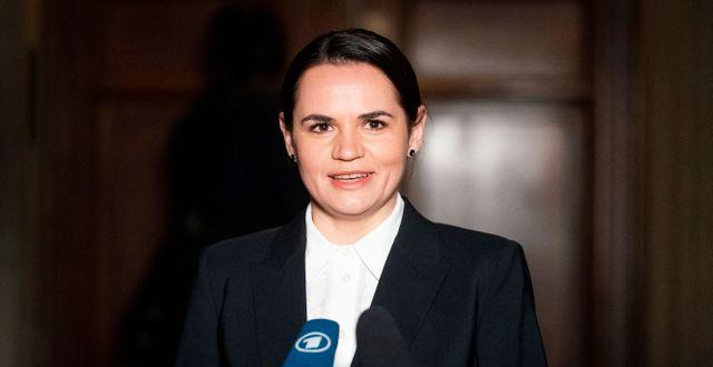 Svetlana Tichanovskaja Kay Nietfeld / TT NYHETSBYRÅN