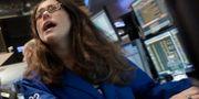 Börsmäkaren Alison Gamba på Wall Street. Arkivbild. Richard Drew / TT NYHETSBYRÅN