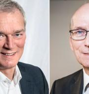 Första AP-fondens sparkade vd Johan Magnusson och styrelseordföranden Urban Hansson Brusewitz. TT