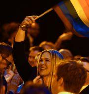 Anja Pärson under Gaygalan 2013 Leif R Jansson / TT / TT NYHETSBYRÅN