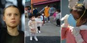 Greta Thunberg / Barn i Sydkorea / En flicka i Peru TT