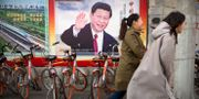 Illustrationsbild: En affisch föreställande president Xi Jinping.  Mark Schiefelbein / TT NYHETSBYRÅN/ NTB Scanpix