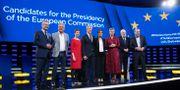 Toppkandidaterna gör sig redo för EU-debatten. ARIS OIKONOMOU / AFP