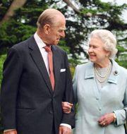 Prins Philip och drottning Elizabeth. Fiona Hanson / TT NYHETSBYRÅN