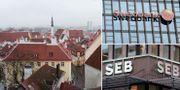 Tallinn, Swedbank, SEB. Arkivbilder. TT