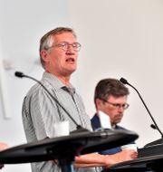 Myndigheternas presskonferens om coronaviruset.  Jonas Ekströmer/TT / TT NYHETSBYRÅN