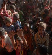 Barn från Tigray i Etiopien i ett flyktingläger i Sudan. Nariman El-Mofty / TT NYHETSBYRÅN