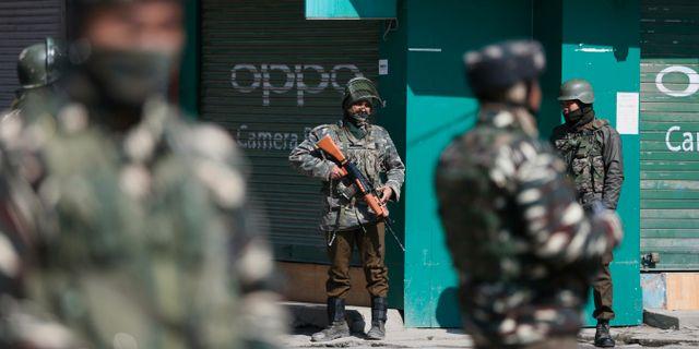 Arkivbild: Indisk militär i Kashmir. Mukhtar Khan / TT NYHETSBYRÅN/ NTB Scanpix