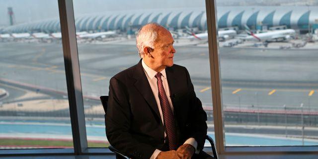 Arkivbild: Tim Clark vid högkvarteret vid Dubais internationella flygplats. Kamran Jebreili / TT NYHETSBYRÅN