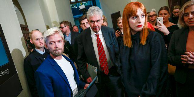 Cissi Wallin under förhandlingarna i Stockholms tingsrätt. Fredrik Persson/TT / TT NYHETSBYRÅN