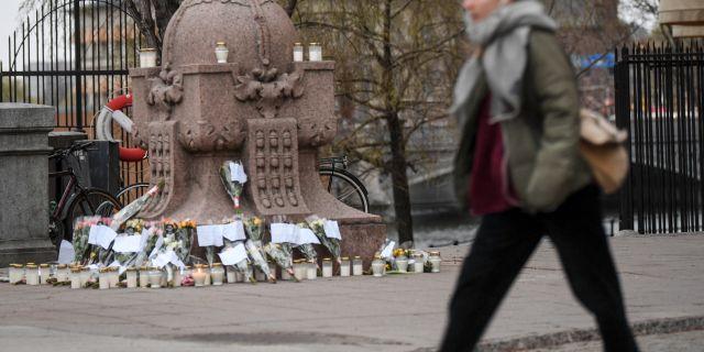 Minnesplats för covid-19-döda i Stockholm.  Fredrik Sandberg/TT / TT NYHETSBYRÅN