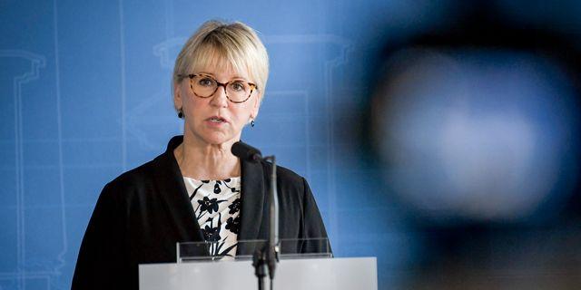 Utrikesminister Margot Wallström  Janerik Henriksson/TT / TT NYHETSBYRÅN