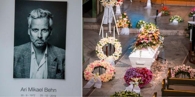 Under fredagen hölls begravningen för Ari Behn. TT