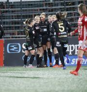 Rosengårdspelarna firar Pär Bäckström/TT / TT NYHETSBYRÅN
