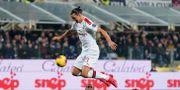 Zlatan Ibrahimovic spelar för Milan. LaPresse / TT NYHETSBYRÅN
