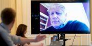 Boris Johnson deltar i ett möte på videolänk. Andrew Parsons10 Downing Street / TT NYHETSBYRÅN