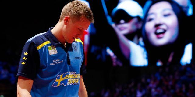 Mattias Falck efter VM-finalen. BERNADETT SZABO / BILDBYRÅN