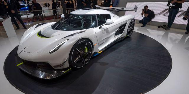Koenigseggs nya bil – Jesko. Martial Trezzini / TT NYHETSBYRÅN/ NTB Scanpix