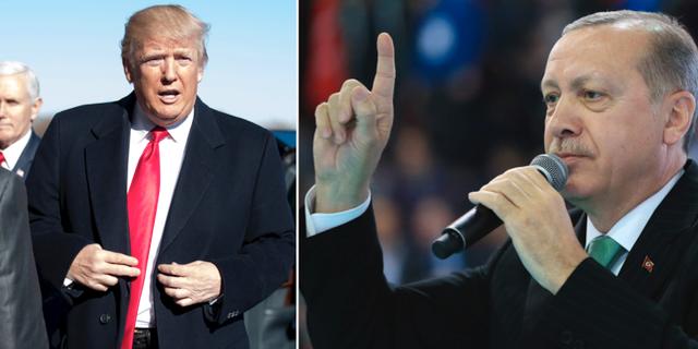 Donald Trump och Recep Tayyip Erdogan. TT
