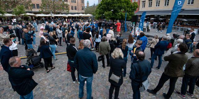 Kristdemorkaterna höll togmöte i Lund under lördagen. Johan Nilsson/TT / TT NYHETSBYRÅN