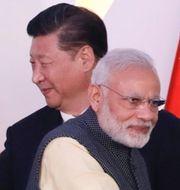 Narendra Modi och Xi Jinping/Galwandalen. TT
