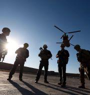 Amerikanska soldater i Afghanistan, arkivbild. Rahmat Gul / TT NYHETSBYRÅN