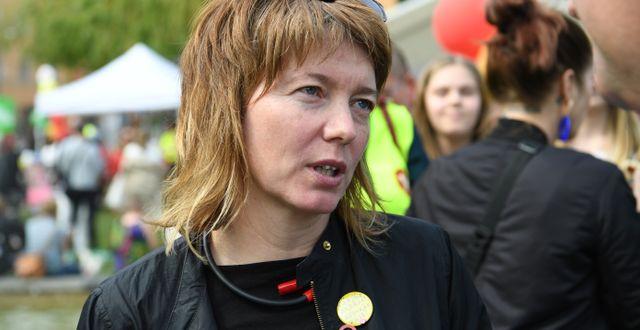 Malin Björk (V). Fredrik Sandberg/TT / TT NYHETSBYRÅN