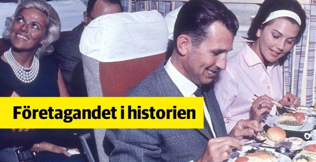 Den i dag hårt pressade charterflygbranschen såg dagens ljus 1955.  Bild ur TUI:s historiska arkiv hos Centrum för Näringslivshistoria.