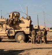 Amerikanska soldater i Mosul. Khalid Mohammed / TT NYHETSBYRÅN