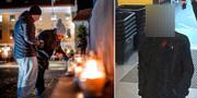 Minnesplats för Wilma Andersson/Pojkvännen går in i en butik. TT/Skärmdump polisens förundersökning.
