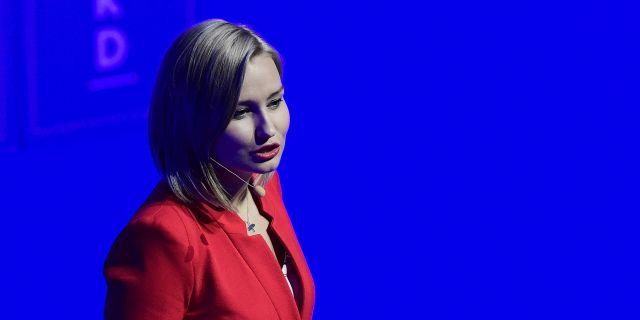 Kristdemokraternas partiledare Ebba Busch Thor. Mikael Fritzon/TT / TT NYHETSBYRÅN