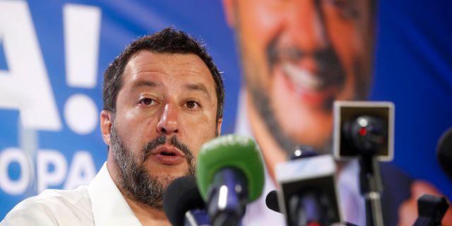 Italiens inrikesminister Matteo Salvini. Antonio Calanni / TT NYHETSBYRÅN/ NTB Scanpix