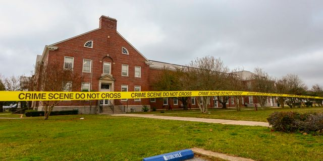 Skjutningen skedde i ett klassrum på basen i Pensacola. HANDOUT / FBI