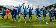 Djurgården firar seger. KRISTER ANDERSSON / BILDBYRÅN