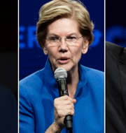 Joe Biden, Elizabeth Warren och Bernie Sanders. TT/AP