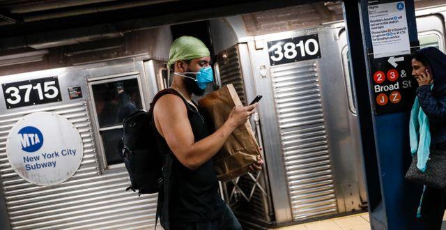 New York är en av de städer i USA som drabbats värst av det nya coronaviruset. John Minchillo / TT NYHETSBYRÅN