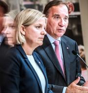 Stefan Löfven och Magdalena Andersson (S) och Johan Pehrson (L). TT