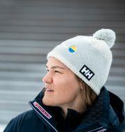 Anna Swenn-Larsson efter en tävling i mars tidigare i år.  Pontus Lundahl/TT / TT NYHETSBYRÅN